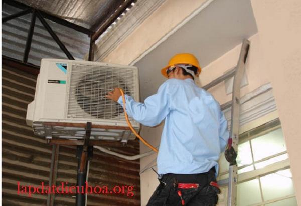 Dàn nóng điều hòa cần được lắp ở nơi dễ vệ sinh, bảo dưỡng